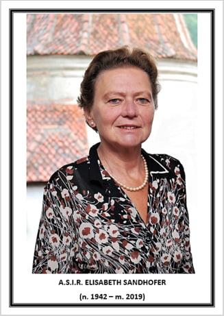 Arhiducesa Elisabeta Sandhofer, fiica principesei Ileana, a murit la varsta de 69 de ani