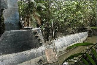 Armata columbiana a capturat un submarin destinat traficului de droguri