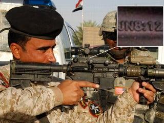 Arme americane cu versete din Biblie, in Irak si Afganistan