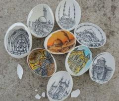 Arta dusa la un alt nivel: Picturi celebre recreate in coaja de ou (Galerie foto)