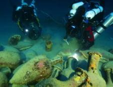 Artefacte din epava unei nave romane, recuperate in Marea Mediterana
