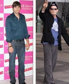 Ashton Kutcher, favorit in rolul principal din Doi barbati si jumatate