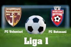 Astazi: FC Voluntari- Botosani