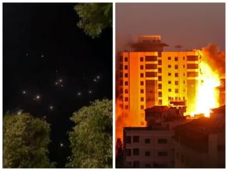 Atac Hamas asupra Israelului cu 130 de rachete, dupa ce aviatia israeliana a distrus o cladire de zece etaje din Gaza UPDATE VIDEO