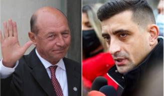 """Atac dur al lui Basescu la adresa AUR: """"Niste semidocti. Sosoaca ar fi buna de sefa de galerie la Dinamo si Simion sef de galerie la Steaua"""""""