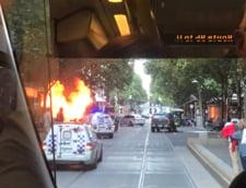 Atac in Melbourne, soldat cu mai multe victime: Un barbat a injunghiat trecatori si a dat foc unei masini (Foto&Video)