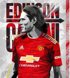 Atacantul uruguyan Edinson Cavani a semnat cu Manchester United
