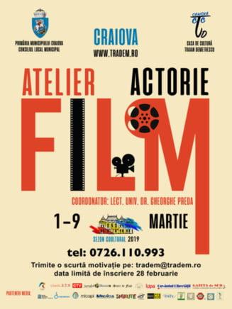 """Atelier de arta actorului de film, la Casa de Cultura """"Traian Demetrescu"""""""