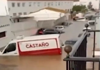 Atenţionare de călătorie pentru Spania din cauza furtunilor și inundațiilor VIDEO