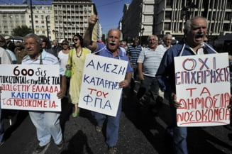 Atena, paralizata din nou de greve si proteste (Galerie foto)