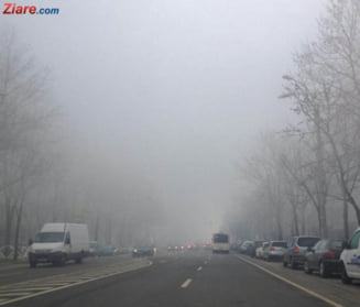 Atentie, soferi! Se circula ingreunat de ceata in zeci de judete si pe A1, A2, A3 si A10