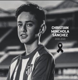 Atletico Madrid anunta decesul unui tanar jucator de 14 ani
