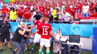 Au bagat in sperieti o jurnalista! Reactia nebuna a ungurilor la golul marcat Frantei VIDEO