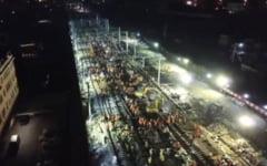 Au construit o cale ferata in noua ore (Video)