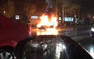 Au incendiat o masina, la Ghimbav