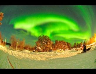 Aurora boreala si eruptia solara (Galerie foto)