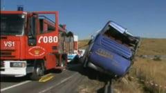 Autocar cu romani care mergeau in Spania, implicat intr-un grav accident rutier