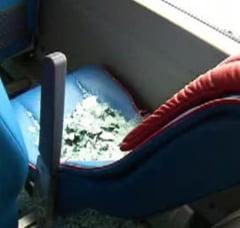 Autocarul Stelei, atacat cu pietre de dinamovisti