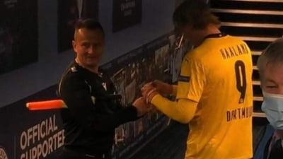 """Autograful dat de Haaland lui Octavian Sovre va fi scos la licitatie. """"Messi mi-a semnat 9 cartonase, nu unul"""""""
