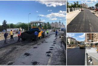 Avanseaza lucrarile la Pasajul Magheru: circulatie deviata pe tronsonul asfaltat dinspre Aleea Strandului