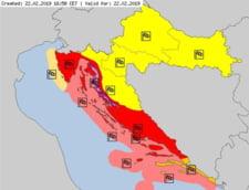 Avertizare de calatorie: Cod rosu de vant in Croatia, caderi abundente de zapada in Bulgaria, furtuni si valuri violente in Grecia