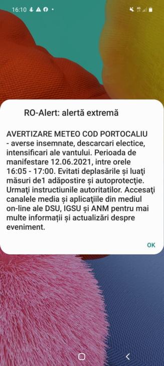 Avertizare de vreme extrema in Bucuresti. Autoritatile au emis un mesaj RO-Alert