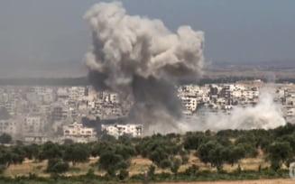 Avioane ale armatei ruse au bombardat nord-vestul Siriei, in cel mai amplu atac din ultimele sase luni