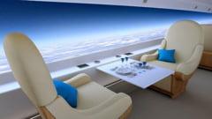 Avionul de lux al viitorului: Fara geamuri in cabina pasagerilor!