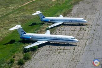 """Avionul prezidential """"Super One-Eleven"""" al lui Nicolae Ceausescu a fost scos la licitatie pentru 25.000 de euro"""