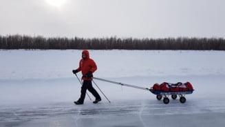 Avram Iancu a terminat al treilea ultramaratonul de la Polul Nord, una dintre cele mai dure curse din lume