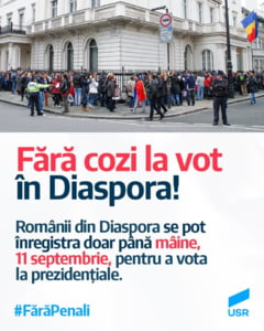 Azi e ultima zi in care diaspora se poate inregistra online pentru a vota in strainatate