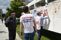 BEC admite contestatia USR-PLUS si dispune indepartarea afiselor ilegale puse de UNPR in Voluntari