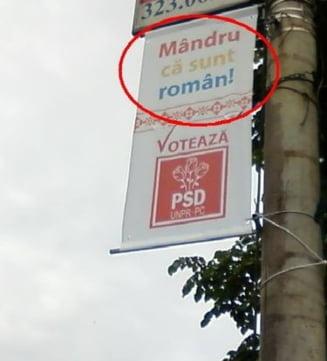 """BEJ Salaj cere inlaturarea sloganului """"Mandri ca suntem romani"""""""