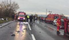 BRASOV. Accident grav pe DN13, la iesirea din Brasov spre Feldioara. Doi oameni au murit - FOTO+VIDEO