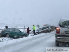 BRASOV. Atentie, incident rutier pe drumul spre Tarlungeni! (FOTO)