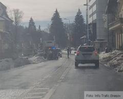 BRASOV. Femeie accidentata pe o trecere de pietoni din Predeal (foto)