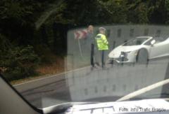 BRASOV. Lamborghini avariat pe Drumul Poienii (FOTO)