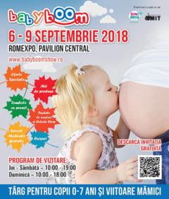 Baby Boom Show, cel mai mare targ pentru viitoare mamici si copii, ia startul pe 6 septembrie la ROMEXPO