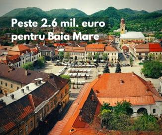 Baia Mare primeste 2,6 milioane de euro de la Comisia Europeana pentru proiecte inovatoare