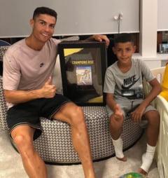 Baiatul lui Cristiano Ronaldo continua sa faca furori la copiii lui Juve (Video)