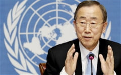 "Ban Ki-moon la Cairo: Fasia Gaza ""ramane un butoi cu pulbere"""