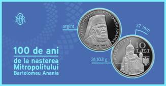 Banca Nationala lanseaza o moneda dedicata Mitropolitului Bartolomeu Anania. Cat trebuie sa plateasca cei care vor sa aiba moneda