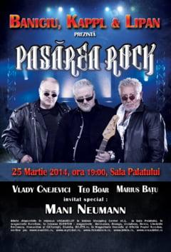 Baniciu si Lipan, concert rock extraordinar la Sala Palatului