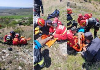 Barbat ranit dupa ce a cazut cu parapanta in judetul Prahova. Pompierii intervin de urgenta