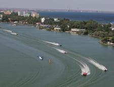 Barca rasturnata la Mamaia, in cadrul Class One Romanian Grand Prix