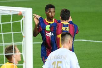 Barcelona a dat de pamant cu Ferencvaros in Champions League, iar Manchester United a invins la Paris