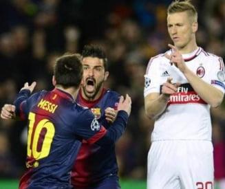 Barcelona a demolat-o pe AC Milan si s-a calificat in sferturile Ligii Campionilor (Video)