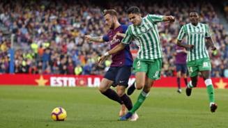 Barcelona a fost invinsa pe Camp Nou de Betis Sevilla dupa un meci cu sapte goluri