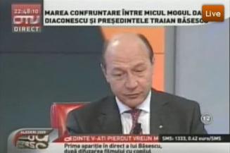 Basescu: Caseta a fost falsificata in strainatate