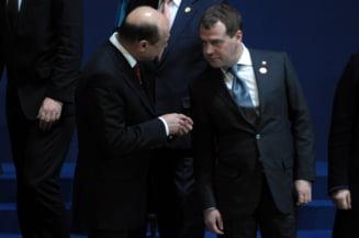 Basescu: Nu pot spune ce-am discutat cu Medvedev si Obama